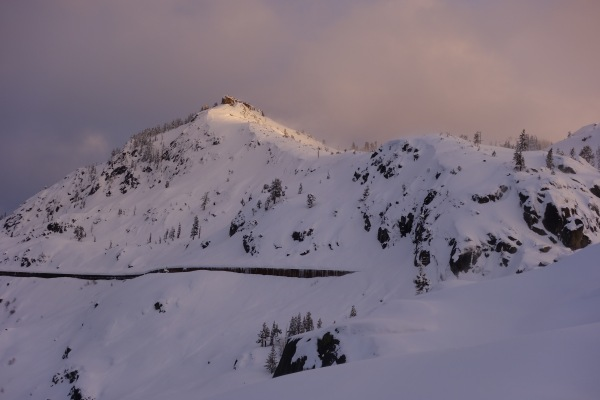 Donner Peak on Monday afternoon, March 7.