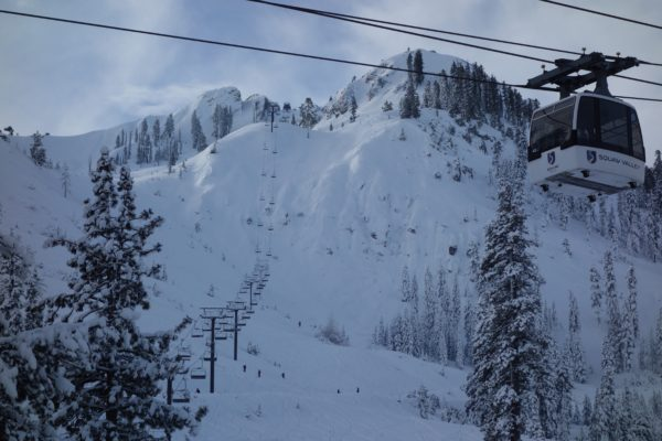 Wet storms caked the Fingers at Squaw Valley.