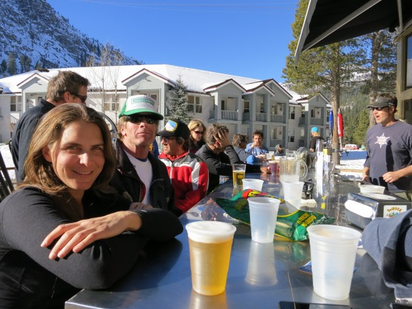 "Quote of the month overheard at le Chamois: ""I never thought I would enjoy global warming so much""."