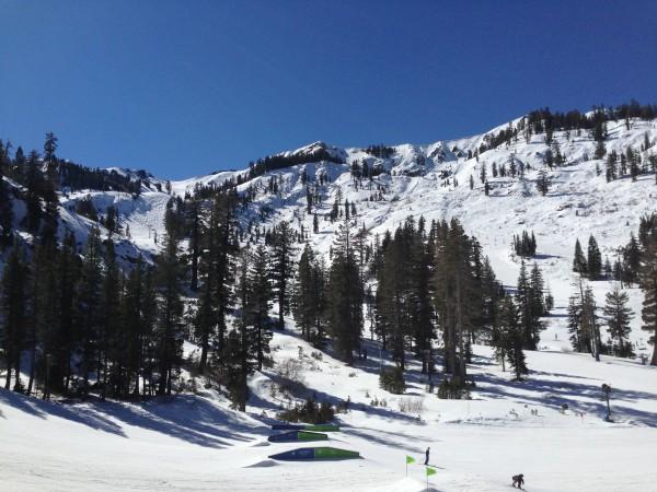 The ridges at Alpine had great steep corn skiing last weekend.