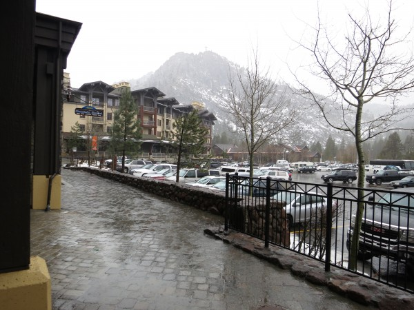 Pouring rain in Squaw Valley 1.29.14.