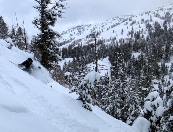 Mark Durgin digs in at Grand Targhee.