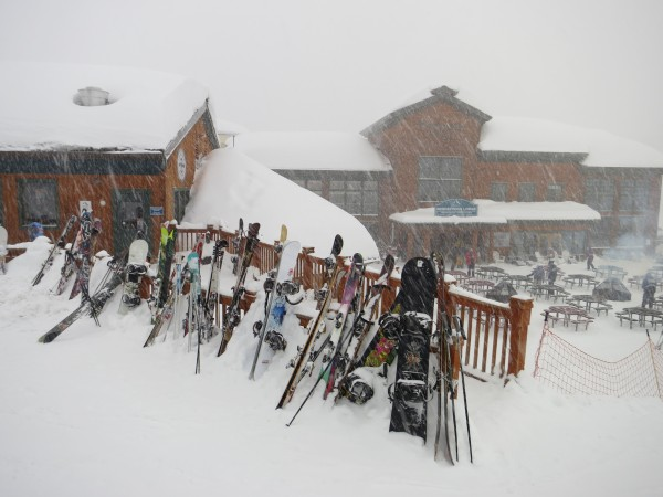 Stay in the Trap Bar long enough and your skis may get buried.