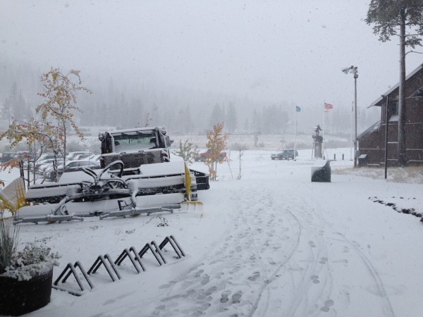 New snow at Boreal on Saturday.