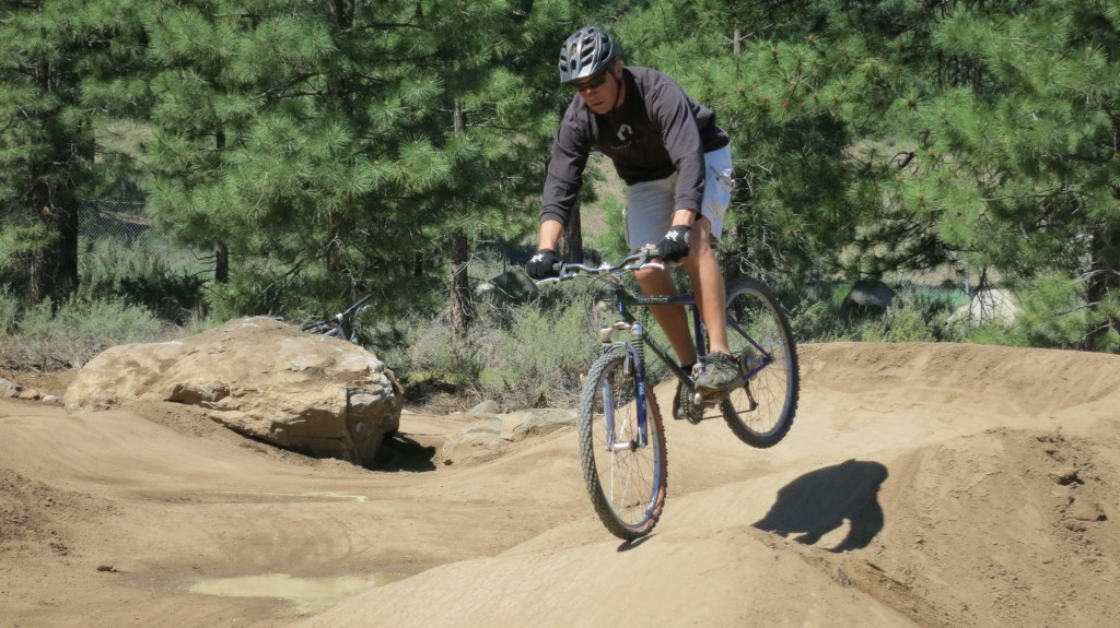 Riding the Truck Pump Track