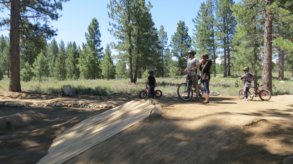 Dropping into the Truckee Pump Track