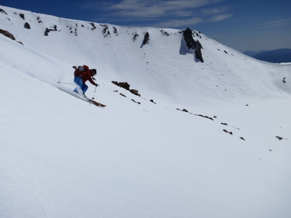 Kyle O'Neal slays April corn on Mt. Shasta.