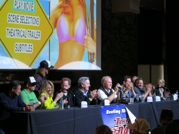Hot Dog cast members answer questions from the audience at the 30th anniversary party.