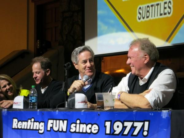 Actors Frank Koppala, David Naughton and director Mike Marvin.