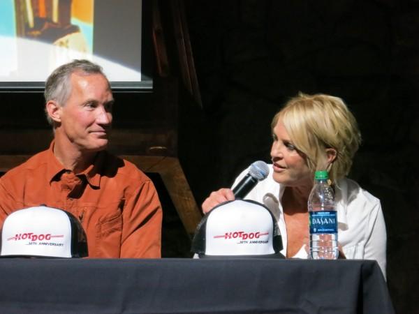 Hometown heroes Robbie Huntoon and Debbie Dutton.  Robbie was the stunt skier for Harkin Banks and Debbie was the stunt skier for Sylvia.
