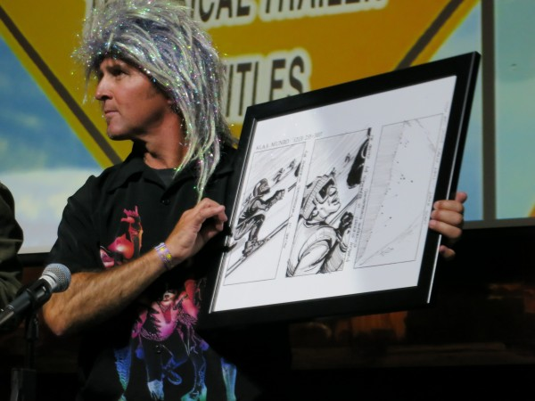 Uncle E auctions off one of the original story boards from the movie.