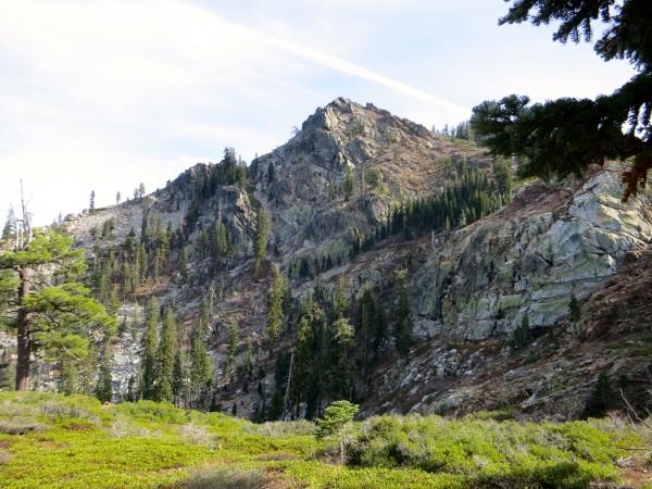 The north face of Eureka Peak.