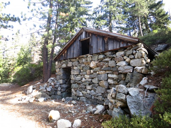 Stone hut at the foot of Mt. Washington.