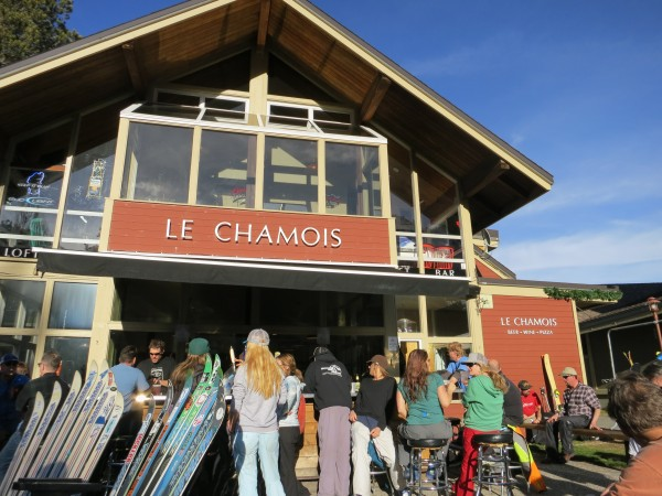 Perfect apres ski weather at the Chammy.