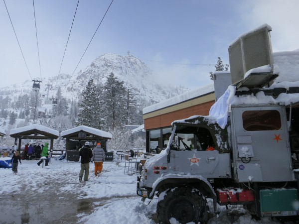 The Space Cowboys unimog kicked off the Snowfest activities over the weekend.