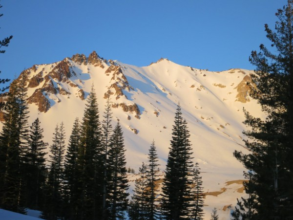 The northeast gully at sunrise.