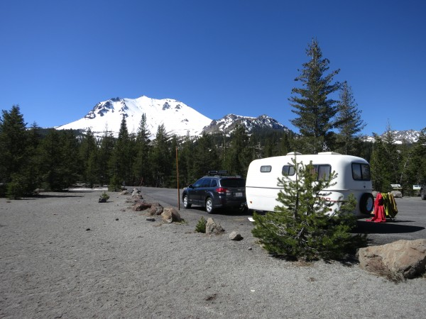 Camping is not technically allowed at the Devastated Area so a travel trailer is a nice option.