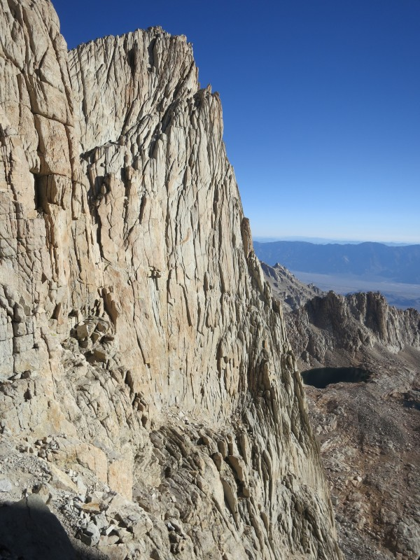 Ridgeline leading to the summits of Mt. Muir and Mt. Whitney.