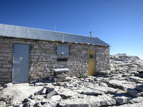 Bad weather shelter on the summit of Mt. Whitney.