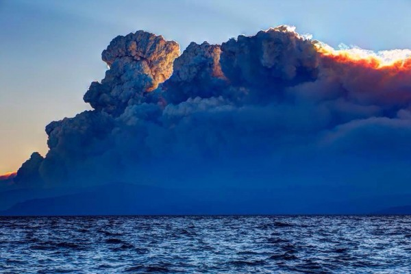 King Fire as seen from Kings Beach on September 18, 2014.
