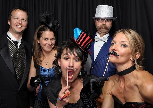 Revelers in the photo booth at the 2012 Legacy Gala.