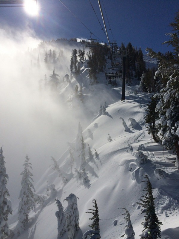 Entrance to the Chutes at Mt. Rose.