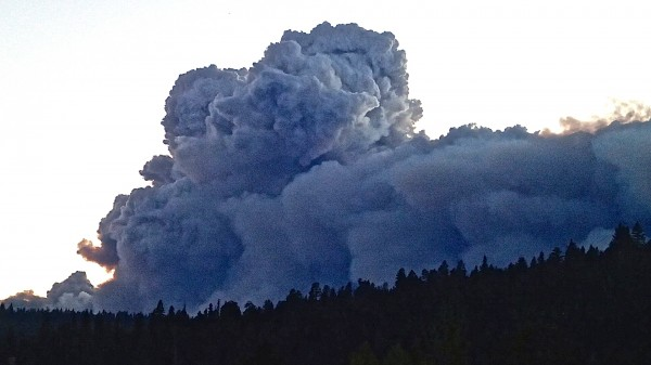 Smoke from King Fire on Wednesday, September 17.
