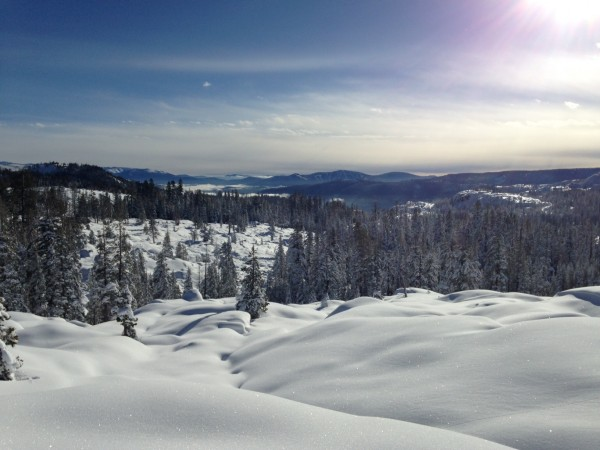 Pristine conditions at 8,000 feet.  Photo by John Heyne.