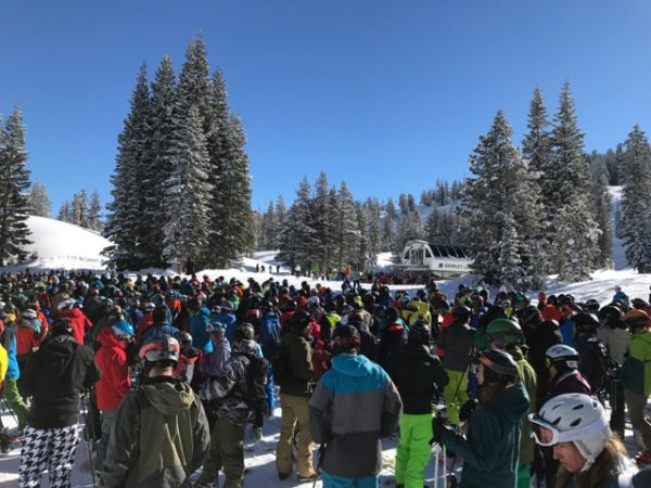 Massive lift lines at Squaw Valley over MLK weekend.