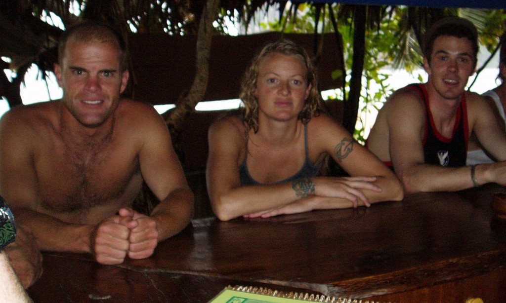 CR Johnson (right) with Scott and Dawn Gaffney in Thailand in 2004 for Shane & Sherry's Wedding