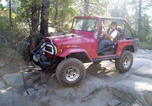 Jason Mack Navigating the Fordyce Jeep Trail